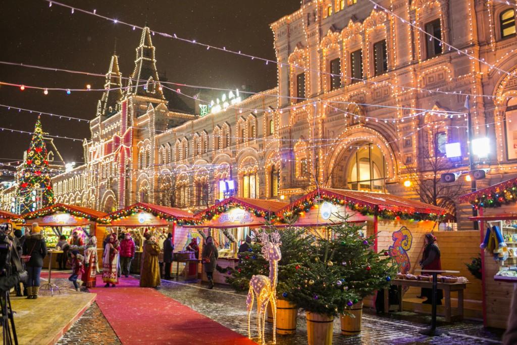 Ароматизация помещений на Рождественской ярмарке на Красной площади от компании «Арома-Эйр»!